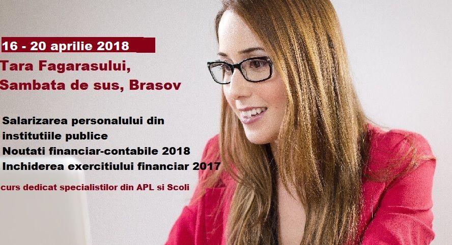 Curs Management Financiar institutii publice, 16 – 20 aprilie 2018, Tara Fagarasului