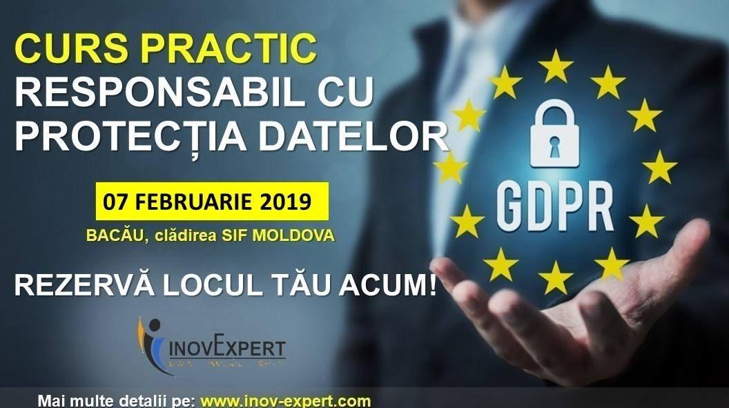 O noua serie de cursuri pentru DPO la Bacau, 7 februarie 2019 -Implementare GDPR